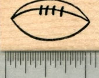 Football Rubber Stamp, Small B30217 Wood Mounted