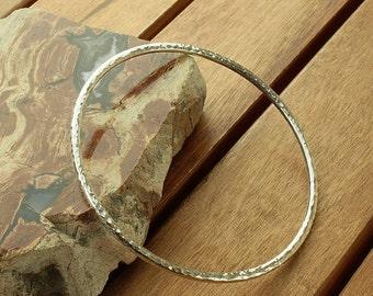 Skinny silver bangle | 3 mm silver stacking bangle | stacking bangle bracelet | silver jewelry | 8.5 ga | hammered bangle | made to order