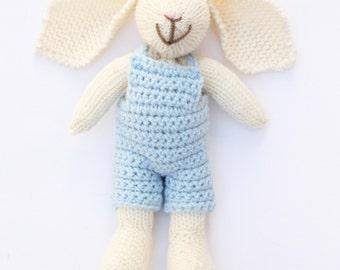 Peter rabbit nursery, bunny, bunny crochet toy, cute bunny plush, baby boy, soft toys, baby gift ideas, knitted toys, baby toys