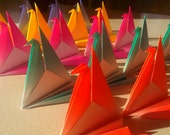Origami cranes - sitting fan cranes