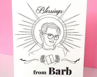 Stranger Things Barb card- any occasion- 80s - retro - card - funny stranger things birthday stranger things gift stranger things present