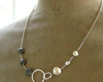 Black Diamond Infinity Necklace-Duality