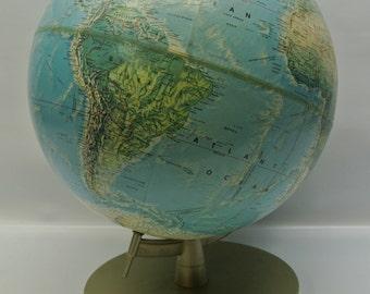 Vintage 1970s Rand McNally globe - World Portrait series