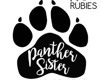 Panther Paw Sister School Pride Mascot SVG, PNG, JPG digital cut file
