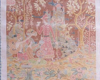 Fantasy Prince and Princess Needlepoint Canvas Handpainted #16 Canvas