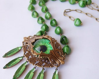 Where The Wild Things Are  - Statement Eye Necklace