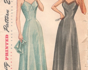 Simplicity 2692 1940s Ladies Lovely Lingerie Pattern Misses  Slip and Panties Pattern Womens Vintage Sewing Pattern Size 16 Bust 34