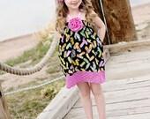 Girls Sundress - Girls Halter Dress - Girls Summer Dress - girls boutique dress - Little Girls sizes 3 months to 5 years