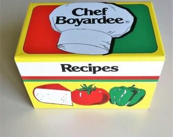 Chef Boyardee Recipe Box/Tin Recipe Box/Retro Kitchen/Vintage Dining/Retro Recipe Tin/Kitschy Kitchen/American Home Foods