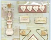 La Petites by The Paper Studio Wedding 3D Stickers - SC042