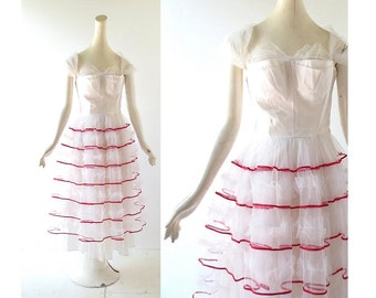 50s Prom Dress | Starlight Mint | 1950s Dress | Tulle Party Dress | XXXS