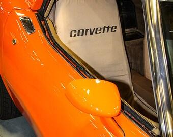1975 Chevrolet Corvette Stingray Car Photography, Automotive, Auto Dealer, Muscle, Sports Car, Mechanic, Boys Room, Garage, Dealership Art