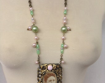 Photo Assemblage Necklace
