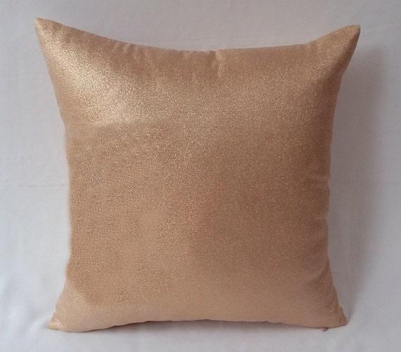 Rose gold pillow rose gold decorative throw pillow rose gold