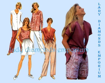Simplicity 9518 Womens 2 Hour Separates, Tank Top Over-shirt Pants Shorts size 6 - 16 OR 18 - 24 Vintage Resort Wear Sewing Pattern Uncut FF