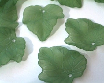 10 Pieces 25mm Grape Leaf Beads Grape Leaves Lucite Leaf Beads