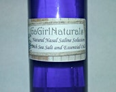 Natural Nasal Saline Solution with Sea Salt and Essential Oils, Aromatherapy, Nasal Congestion
