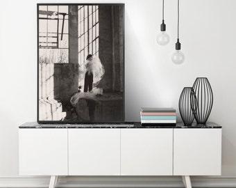 Oversized Artwork, Urban Art Photography, Extra Large Wall Art, Large Art Print, Black and White Photography