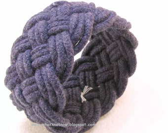 thick wide navy rope bracelet rope jewelry wide cuff soft bracelet turks head knot armband sailor rope bracelet 2810