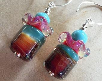 Colorful Boro Glass Earrings