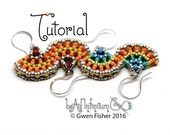 TUTORIAL Beaded Ginkgo Leaf Earrings Made with Cubic Right Angle Weave