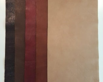 """9""""x23"""" Full Grain Leather pieces Mixed lot Provost"""