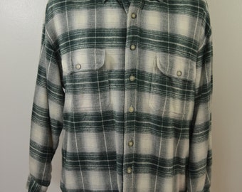Vintage Autumn Sport LINED plaid cotton FLANNEL shirt Size Medium long sleeve NWT