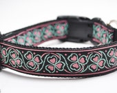 Shamrock Dog Collar in Pink / Luck of the Irish in Pink / St. Patrick's Day Collar