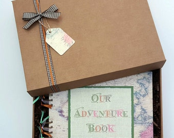 "Our Adventure Book - Travel Photo Album - My Adventure Book - Vacation Scrapbook - Travel Journal - 10""x 8"" scrapbook - can be personalised"