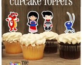 Mulan Party - Set of 12 Mulan and Friends Assorted Cupcake Toppers by The Birthday House