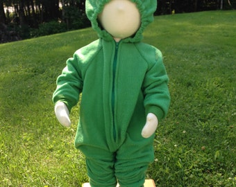 Custom Green Garbage Loving Monster Costume