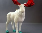 Glitter Menagerie Moose Ornament