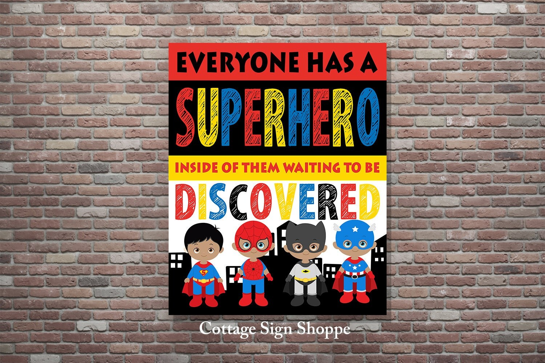 Classroom Decor For Sale : Superhero decor classroom wall