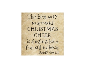 Merry Christmas Rubber Stamp~Buddy the Elf~Smiling is my favorite~Christmas Cheer Sing Loud (52-07MC-L)(52-12 MC-S)(52-15 CHR)(52-16 SMILE)