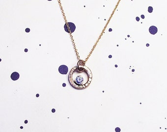 14K Gold You're my Sun and Moon Necklace