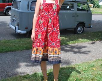 Vintage Prairie Dress Boho Summer Dress
