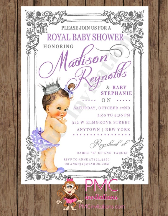 royal princess baby shower invitations each w envelope by paper
