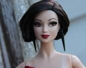 Matte Black Spike Earrings for Fashion Dolls 1/6th Scale Petite Slimline 17 inch BJD Monster Fairytale