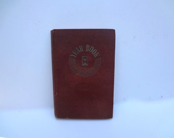 Vintage Diary Or Day Planner For 1 Year Hardcover Some Outside Wear A Few Pages Have Writing Inside Published in 1941