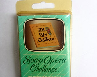 Vintage Card Game Soap Opera Challenge All My Children New Old Stock 1987 Some Wear On Outside Cover Cards Are Sealed