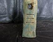 Artisan amuletic ceramic seal pendant - OOAK