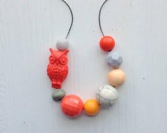 harvest moon necklace - vintage lucite