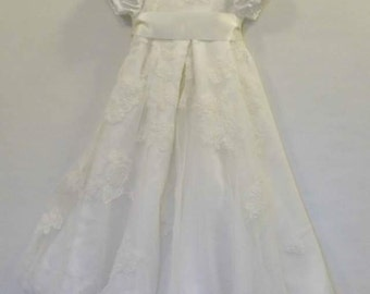custom christening, baptism gown from your wedding dress!