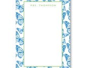 Personalized Notepad - Butterfly Collection