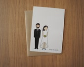 Personalized Wedding Thank You Cards | Flat Cards | Wedding Thank You Cards | Customizable Bride and Groom Wedding Thank You Cards | Custom