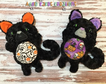 Personalized Halloween Plush Kitty Cat / Stuffed Animal