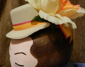 Cream Confection Mini Hat