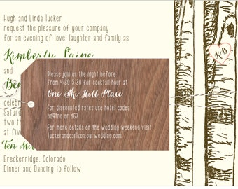 Birch Aspen Tree Invitation - Collection options available