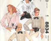 McCalls 8834 1980s Misses Sailor or Pleated Front Sewing Pattern Size 14 Bust 36 Gibson Girl