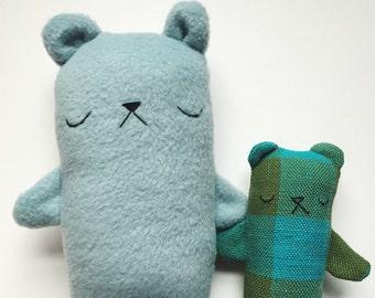 Blueberry the stuffed bear toy, stuffed bear plushie, plush bear, teddy bear softie, stuffe animal bear